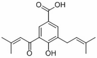 4-Hydroxy-3-(3-methyl-2-butenoyl